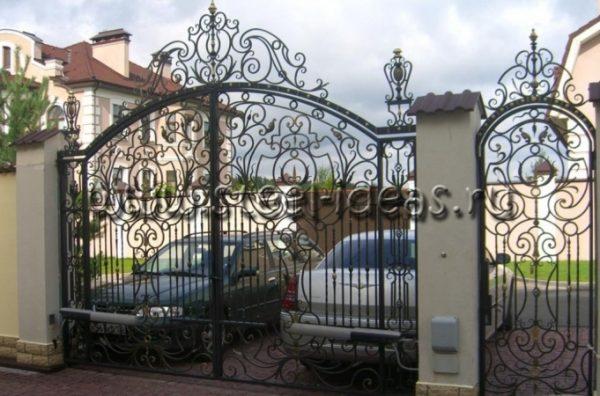 Кованые ворота Ким