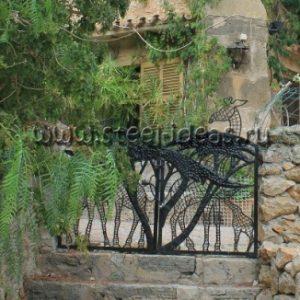 Кованые ворота Джунгли