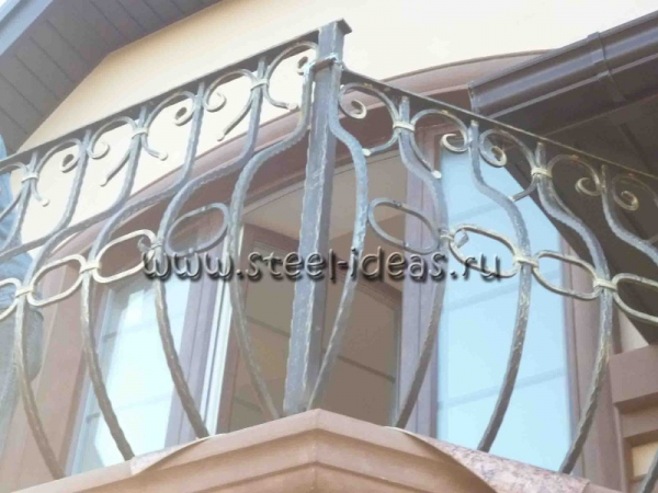 Кованый балкон Арт.09