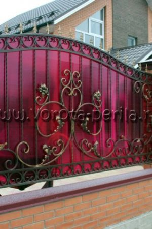 Кованые ворота Малина