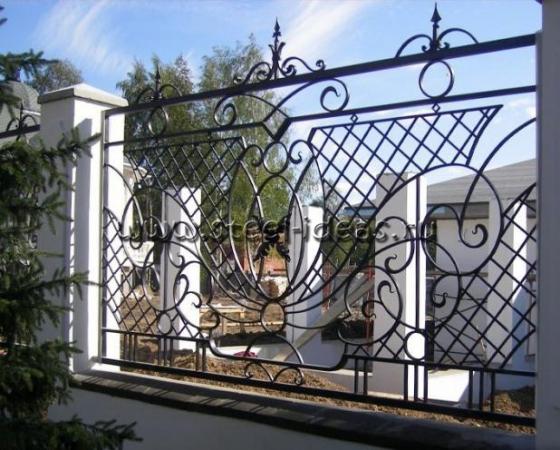Кованый забор Пани