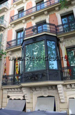 Кованый балкон Арт.06