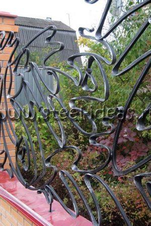 Кованый забор Кона