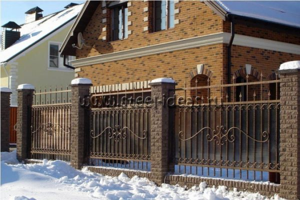 Кованый забор Хонор