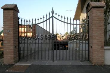 Кованые ворота Грета