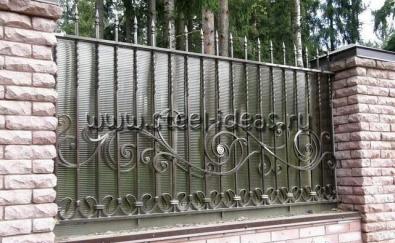 Кованый забор Бари
