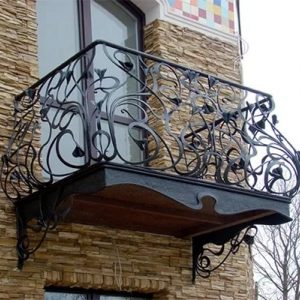 Кованый балкон Арт.25