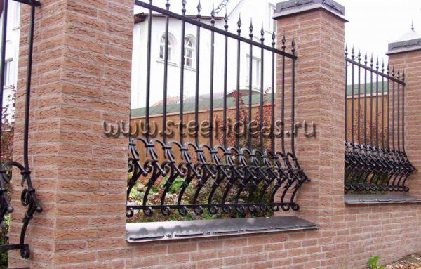 Кованый забор Рони