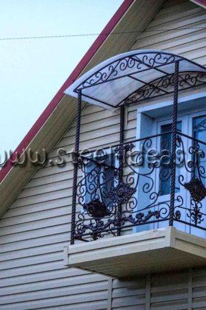 Кованый балкон Арт.12