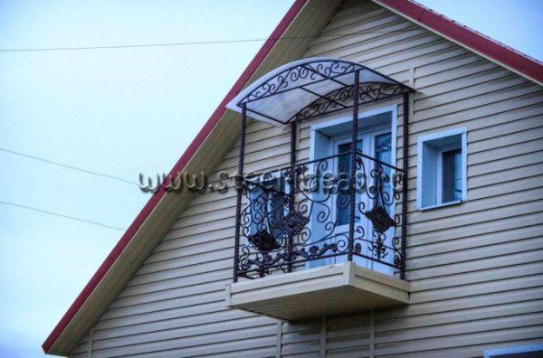 Кованый балкон Жизель