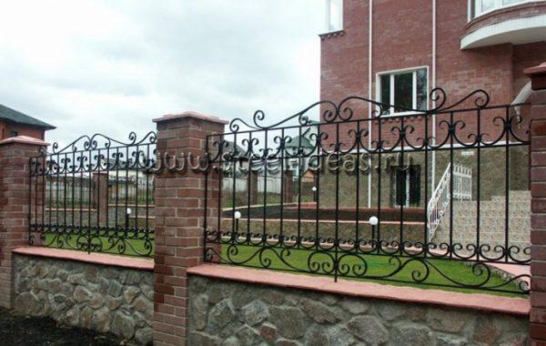 Кованый забор Оливер