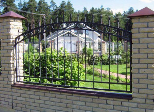 Кованый забор Линда