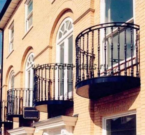 Кованый балкон Конти