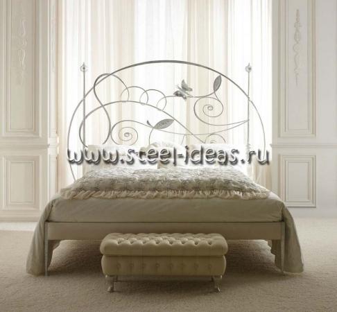 Кованая кровать Бабочки