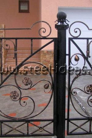 Кованый забор Лучина