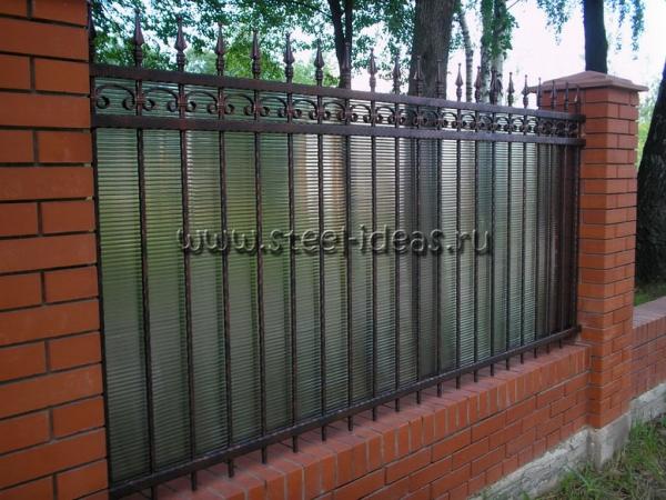 Кованый забор Гонзо