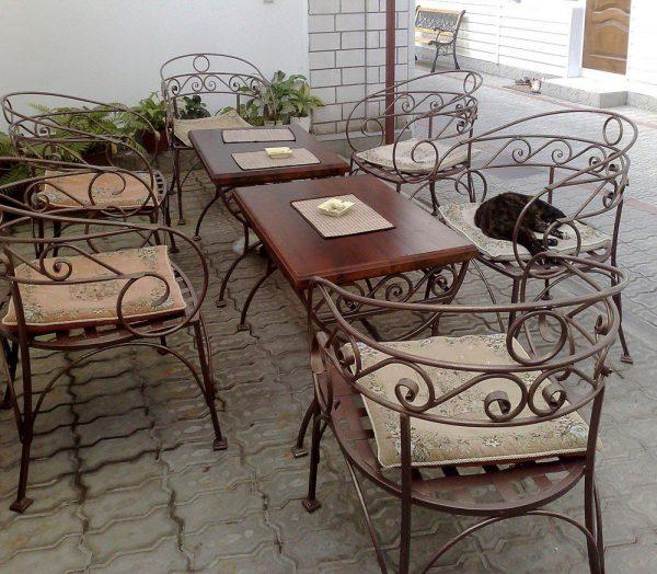 Кованая мебель для дачи Аврора