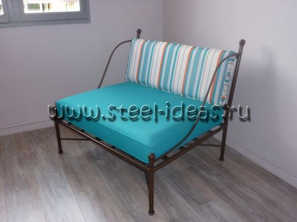 Кованый диван Блюз