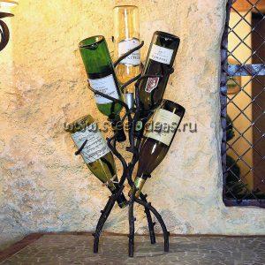 Кованая бутылочница - Дерево