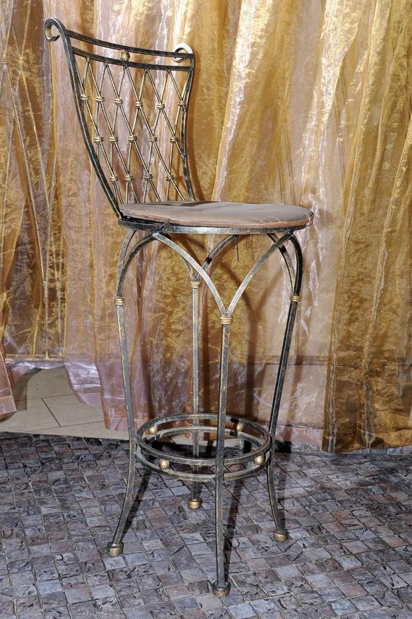 Кованый барный стул - Агата