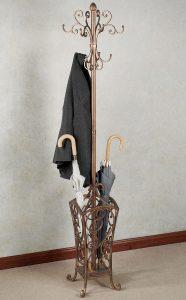 Кованая вешалка с зонтом