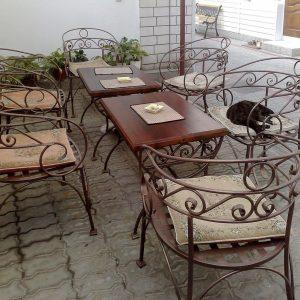 Кованые кресла для сада