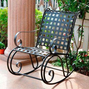 Кованое кресло качалка купить