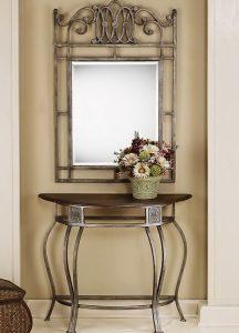Кованый туалетный столик с зеркалом