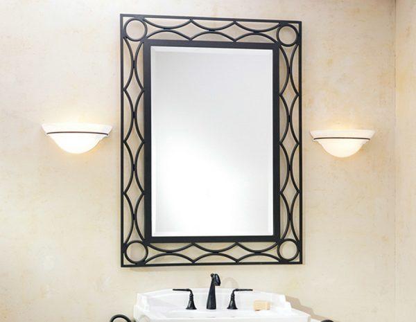 Кованые зеркала в ванную