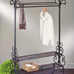 Кованые напольные вешалки для одежды