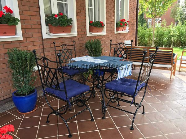 Кованая мебель для дачи - Монро