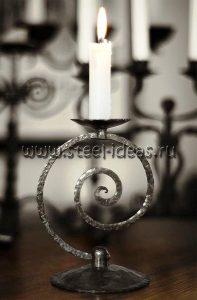 Кованый подсвечник - Спираль
