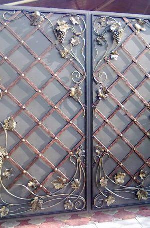 Кованые ворота Лоза