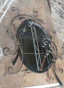 Кованое зеркало Анна