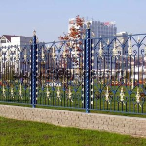 Кованый забор Тиора