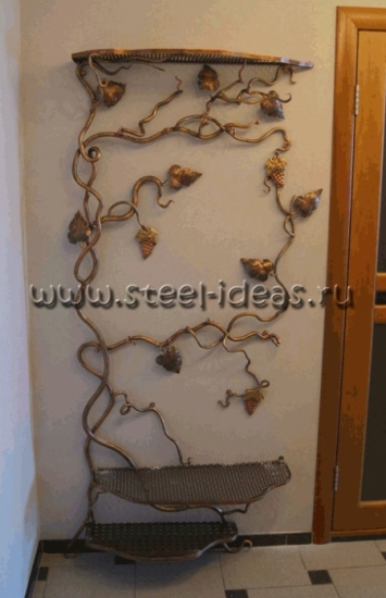 Кованая вешалка Виноградная лоза