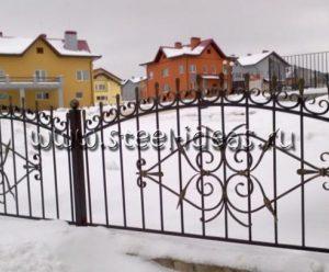Кованый забор Кита
