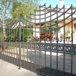 Кованые ворота Ева