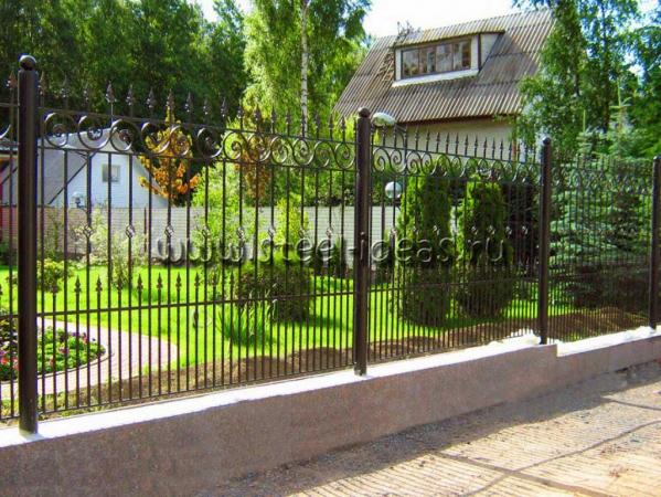 Кованый забор Клара