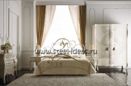 Кованая кровать Аврора