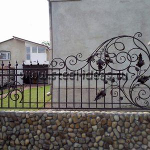 Кованый забор Крона