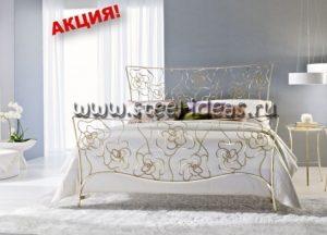 Кованая кровать - Розы