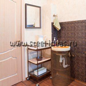 Этажерка в ванную и подставка для раковины