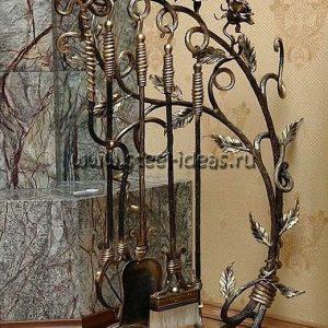 Кованый каминный набор - Розали