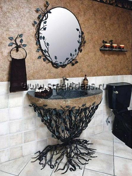 Кованый комплект для ванной - Лес